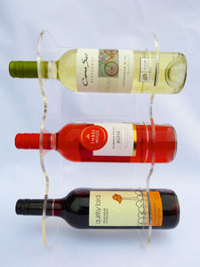 Home wine rack display free standing or wall mountable