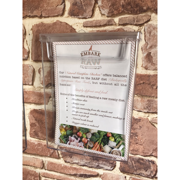 Leaflet holders exterior wall mounted displays A5