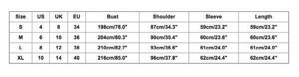 size chart for couples two-person christmas sweater