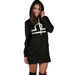 womens' zodiac sign hoodie dress libra