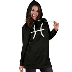 pisces womens' zodiac sign hoodie dress