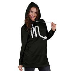 scorpio womens' zodiac sign hoodie dress