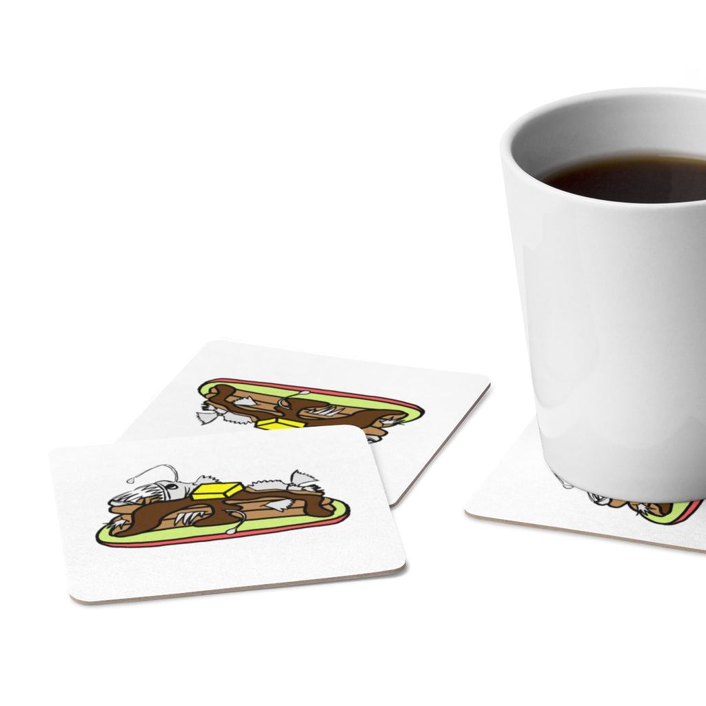 Anglerfish Pancakes Paper Coaster Set - Sundogsfire Variety Gifts, Apparel and Accessories