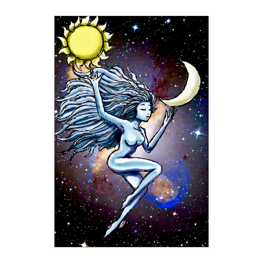 Sun and Moon Poster - Sundogsfire Variety Gifts, Apparel and Accessories