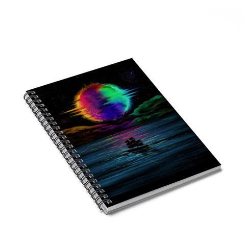 Nocturne Ruled Spiral Notebook - Sundogsfire Variety Gifts, Apparel and Accessories