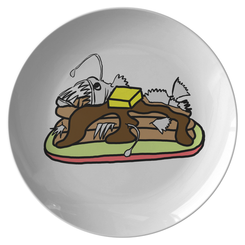 Anglerfish Pancakes Plate - Sundogsfire Variety Gifts, Apparel and Accessories