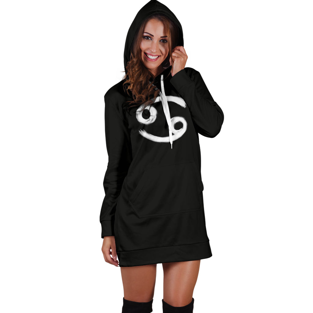 cancer hoodie dress, front view only, girl standing still