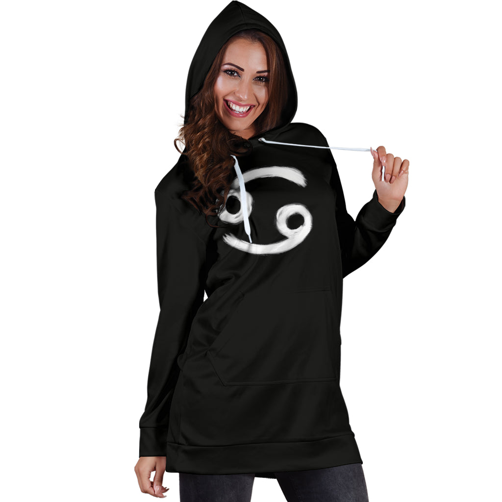 cancer hoodie dress, front view only, girl posing