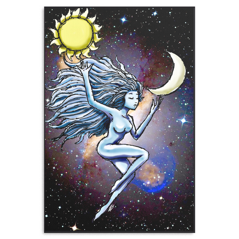 Sun and Moon Canvas - Sundogsfire Variety Gifts, Apparel and Accessories