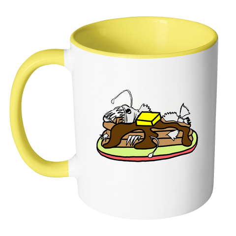 Anglerfish Pancakes Coffee Mug - Sundogsfire Variety Gifts, Apparel and Accessories