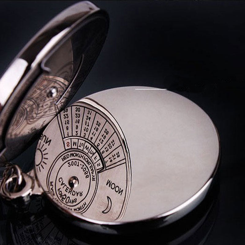 beautiful 50 year perpetual calendar keychain back side image
