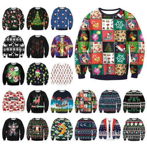 entire collection of 22 ugly christmas sweaters