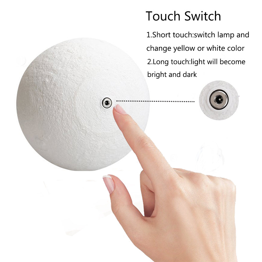 how to change moon lamp light with button