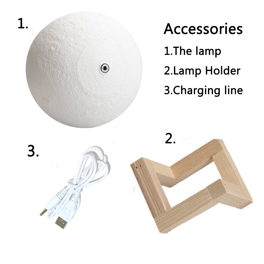 astrology beautiful moon lamp assembliy instructions with USB cable and stand