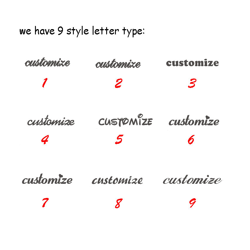 image showing 9 different font examples
