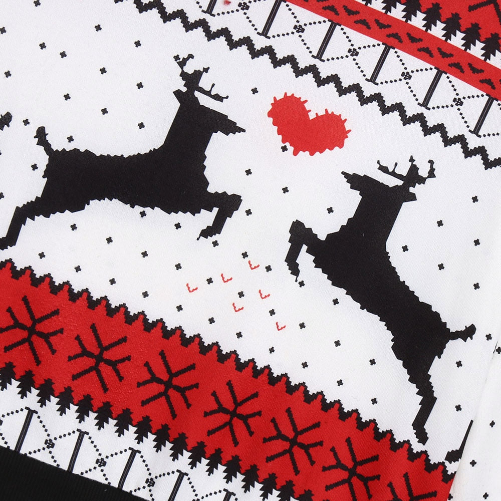 Close-up of reindeer pattern design