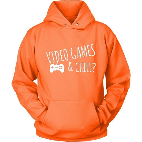 Video Games & Chill Hoodie - Sundogsfire Variety Gifts, Apparel and Accessories