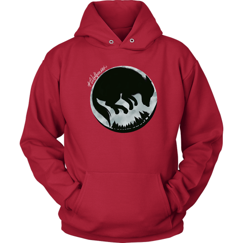 wolfenoot premium childrens' hoodie in black with wolf logo design on front