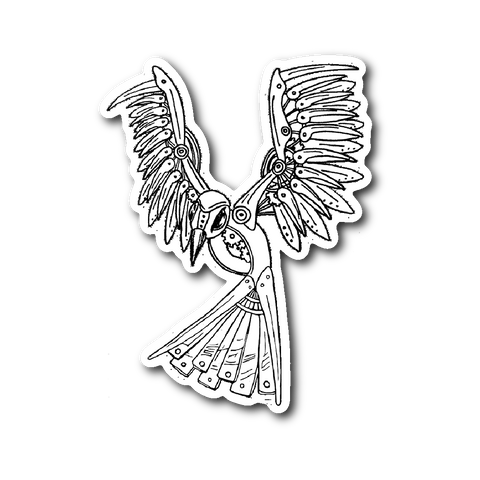 Clockwork Bird Vinyl Sticker - Sundogsfire Variety Gifts, Apparel and Accessories