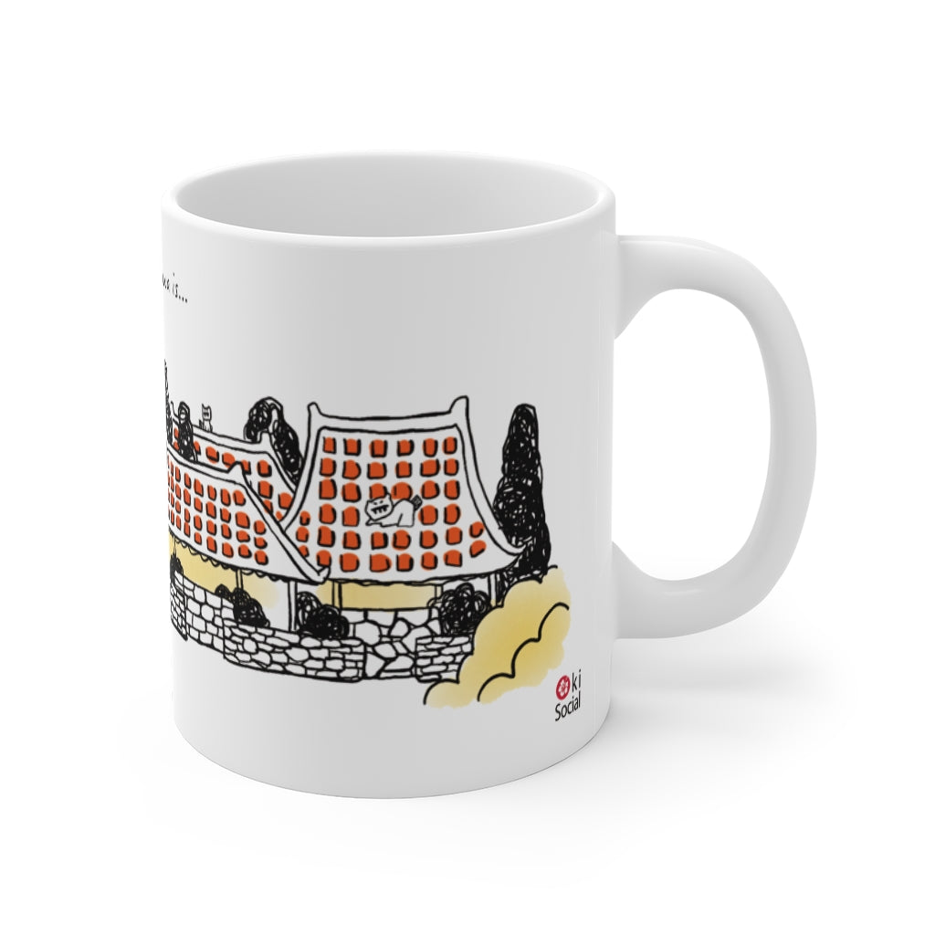 Happiness In Okinawa is...Red Tile Roof - Mug 11oz