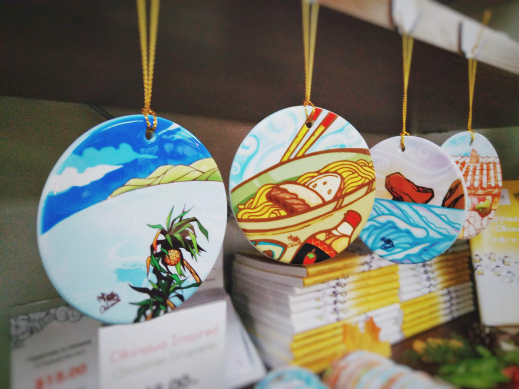 Okinawa Inspired Five Christmas Ornaments Set - 2019 Edition Story of The Wind