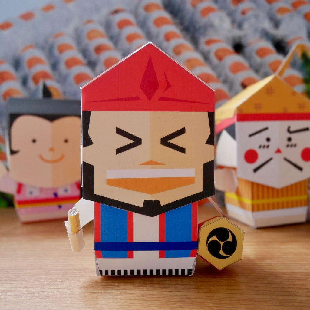 Okinawa Eisa Paper Toy - Digital Product