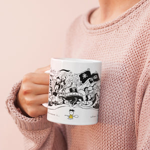 Coffee Mug - Happiness in Okinawa is dragon boat