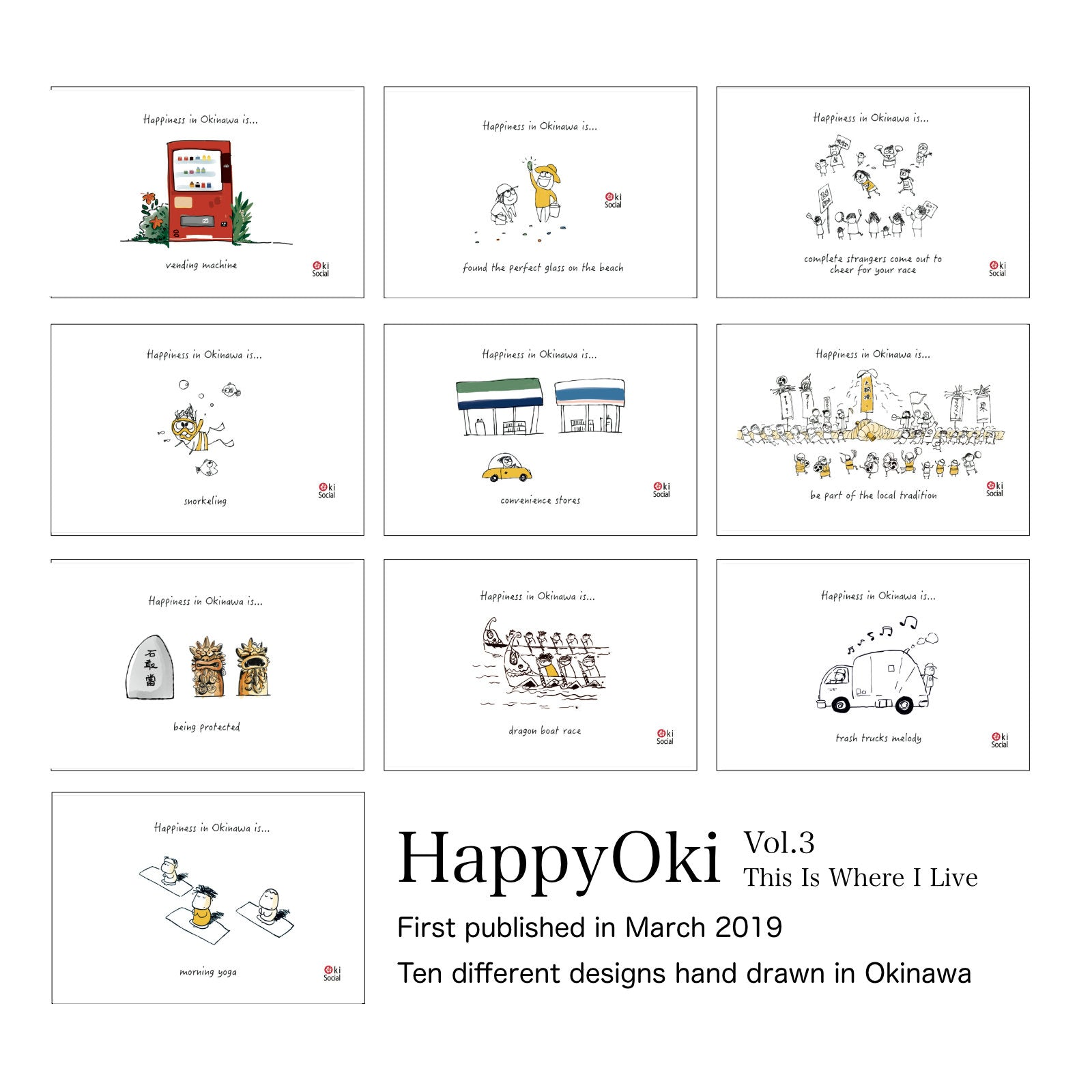 Happiness In Okinawa Postcard Sets - 10 Cards