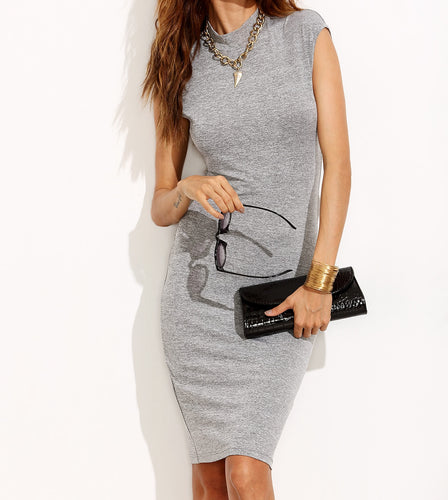T neck bodycon dress