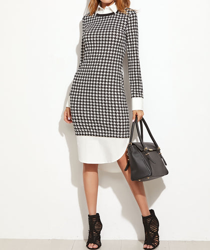 Houndstooth autumn dress