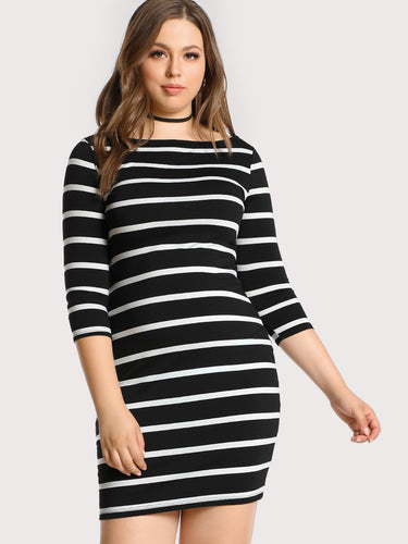 Casual striped dress