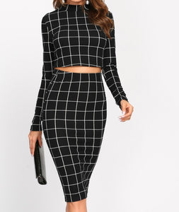 Crop top + skirt set