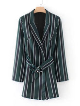 Striped collar Playsuit