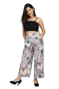Floral print wide legged pants-  Ships in 24 hrs