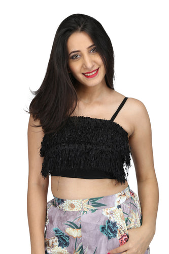 Fringes crop top-  Ships in 24 hrs