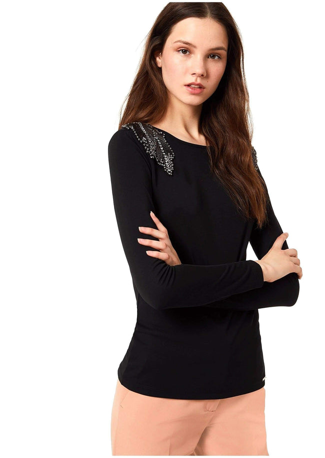 blusa con patch gioiello LIU-JO - Vittorio Citro Boutique
