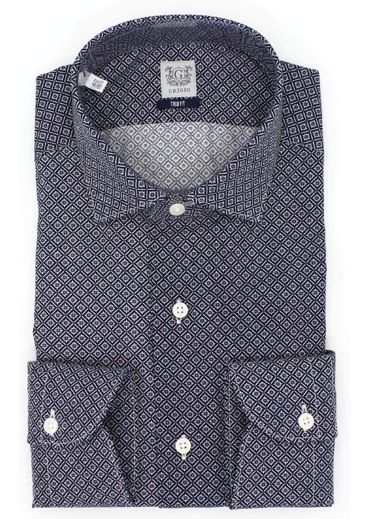 Camicia trim-fit - Vittorio Citro Boutique - GRIGIO