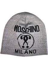 cappello in misto lana con intarsio double question mark MOSCHINO - Vittorio Citro Boutique