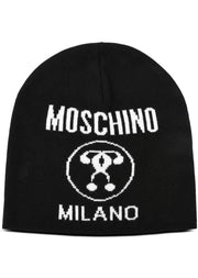 CAPPELLO IN MISTO LANA CON INTARSIO DOUBLE QUESTION MARK - Vittorio Citro Boutique - MOSCHINO