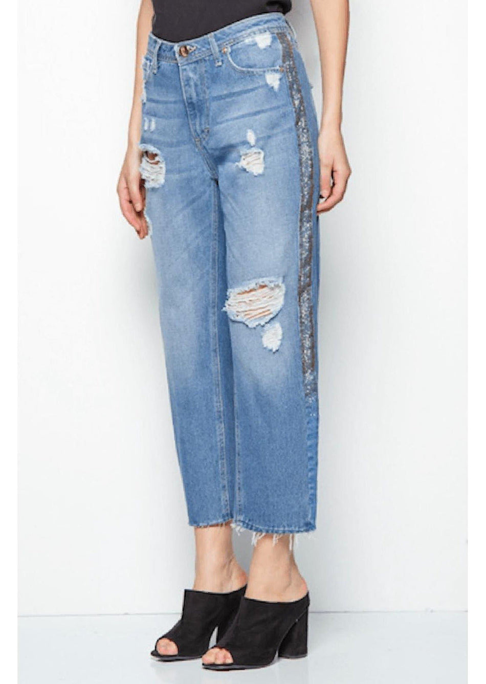 jeans bande laterali REVISE BLUE VIBES - Vittorio Citro Boutique
