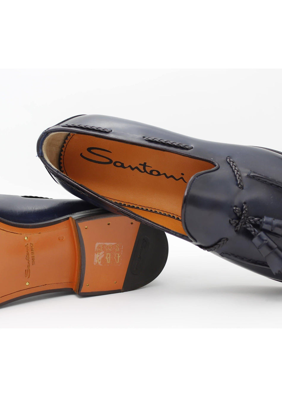 mocassino in pelle SANTONI - Vittorio Citro Boutique