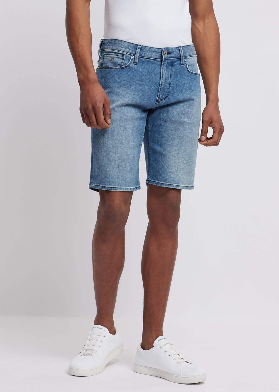 shorts in denim comfort right hand 12 oz EMPORIO ARMANI - Vittorio Citro Boutique
