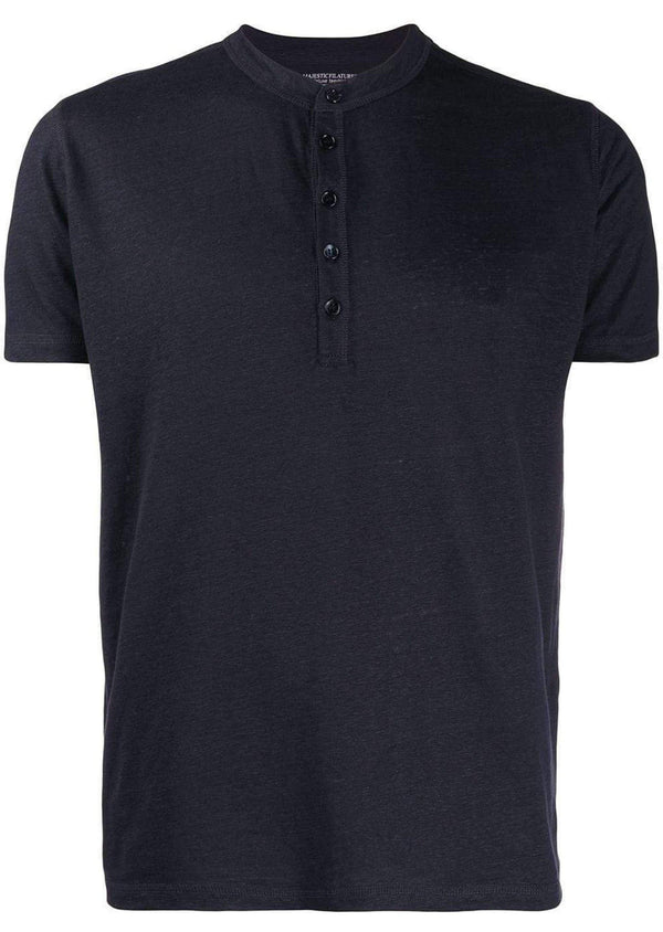 T-shirt Henley - Vittorio Citro Boutique - MAJESTIC FILATURES