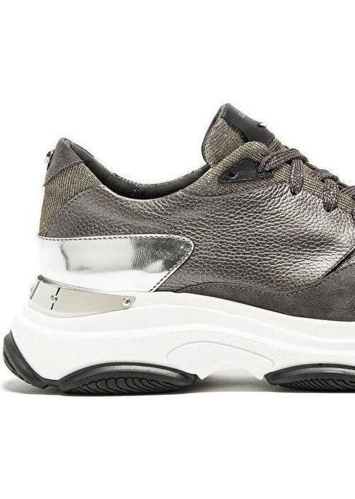 Vague Sneaker chunky grigia in suede e lurex - Vittorio Citro Boutique - GUARDIANI