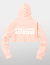 Women's Ice Cold Cropped Hoodie - Pink