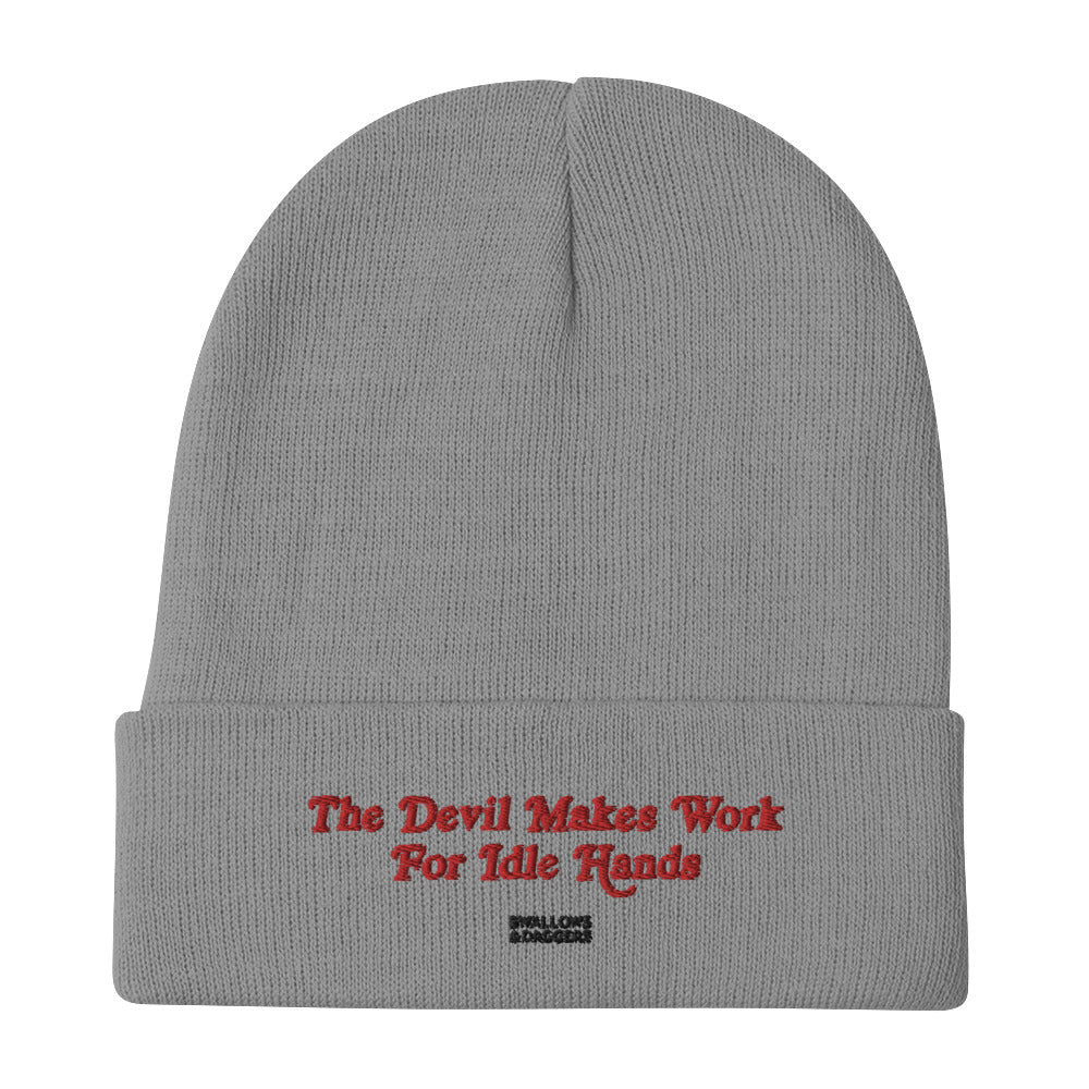 THE DEVIL WORKS WITH IDLE HANDS - Beanie