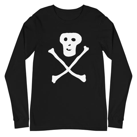 JACK THE GRIM Skull Unisex Long Sleeve Tee
