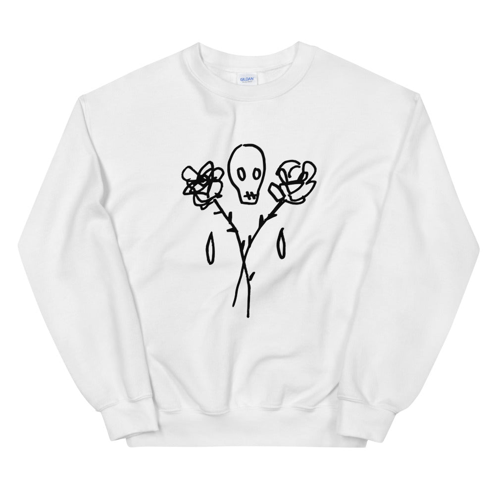 DECAY Skull and Roses Unisex Sweatshirt