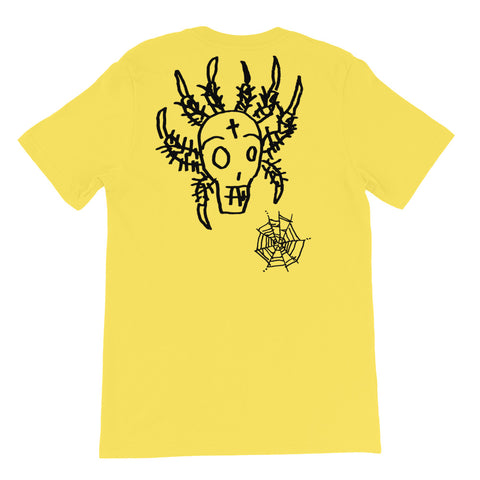 DECAY Spider Skull Short-Sleeve Unisex T-Shirt