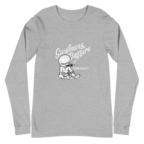 CLASSICS GREY BORN GUILTY LONG SLEEVE TEE